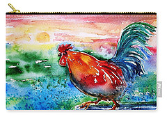 Cock A Doodle Doo  Carry-all Pouch by Trudi Doyle