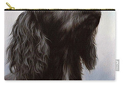 Cocker Spaniel Painting Carry-all Pouch by Rachel Stribbling