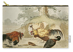 Cocks Fighting Carry-all Pouch by Melchior de Hondecoeter