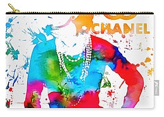 Coco Chanel Paint Splatter Carry-all Pouch by Dan Sproul