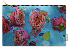 Coffee Bean And Roses Carry-all Pouch