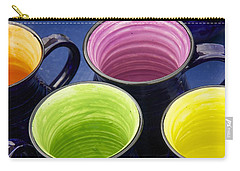 Carry-all Pouch featuring the photograph Coffee Mugs by Stuart Litoff