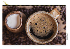 Coffee With A Smile Carry-all Pouch by Aaron Aldrich