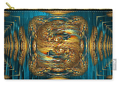 Carry-all Pouch featuring the digital art Coherence - Abstract Art By Giada Rossi by Giada Rossi