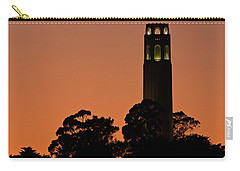Carry-all Pouch featuring the photograph Coit Tower Sunset by Kate Brown