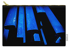 Carry-all Pouch featuring the photograph Cold Blue Steel by Steven Milner