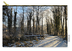 Carry-all Pouch featuring the photograph Cold Morning by Felicia Tica