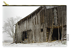 Carry-all Pouch featuring the photograph Cold Winter At The Barn  by Wilma  Birdwell