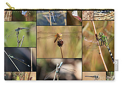 Collage Marsh Life Carry-all Pouch by Carol Groenen
