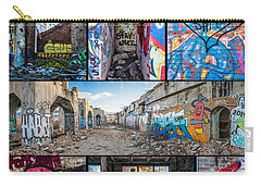 Carry-all Pouch featuring the photograph Collage Of Graffiti by Steven Santamour