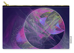 Carry-all Pouch featuring the digital art Collision by Victoria Harrington