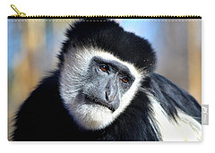 Carry-all Pouch featuring the photograph Colobus Contemplation by Deena Stoddard