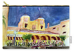 Colony Hotel In Delray Beach Carry-all Pouch by Donna Walsh