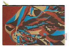 Carry-all Pouch featuring the painting Color Cat II by Pamela Clements