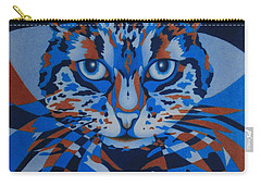 Carry-all Pouch featuring the painting Color Cat IIi by Pamela Clements