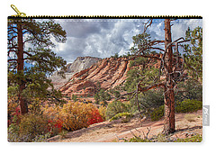 Carry-all Pouch featuring the photograph Color Competition At Zion National Park by John M Bailey