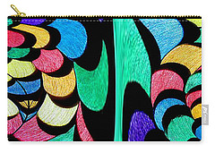 Carry-all Pouch featuring the digital art Color Dance by Rafael Salazar