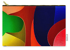 Carry-all Pouch featuring the digital art Color Maze by Rafael Salazar