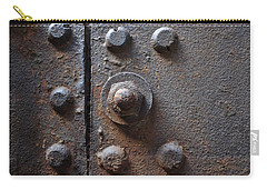 Carry-all Pouch featuring the photograph Color Of Steel 3 by Fran Riley
