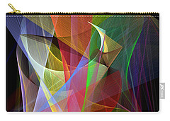 Carry-all Pouch featuring the digital art Color Symphony by Rafael Salazar