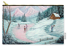 Carry-all Pouch featuring the painting Colorado Christmas by Fran Brooks