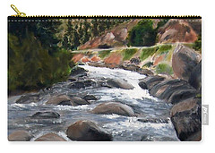 Carry-all Pouch featuring the painting Colorado Rapids by Jamie Frier