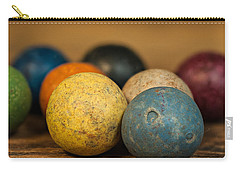 Colored Clay Marbles Carry-all Pouch