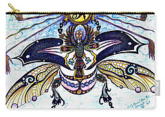 Colored Cultural Zoo B Sacred Scarab Carry-all Pouch