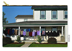 Colorful Amish Laundry On Porch Carry-all Pouch