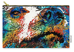 Colorful Bear Art - Bear Stare - By Sharon Cummings Carry-all Pouch