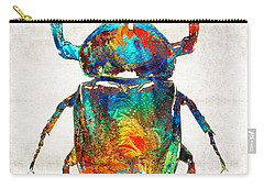Colorful Beetle Art - Scarab Beauty - By Sharon Cummings Carry-all Pouch by Sharon Cummings