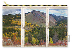 Colorful Colorado Rustic Window View Carry-all Pouch