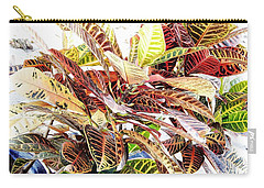 Colorful - Croton - Plant Carry-all Pouch by D Hackett
