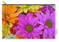 Colorful Daisies Carry-all Pouch by Sami Martin