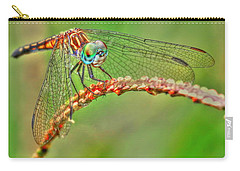 Colorful Dragonfly Carry-all Pouch by Myrna Bradshaw