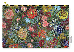 colorful flower painting - For July Carry-all Pouch