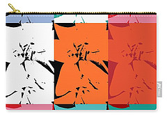 Colorful Flowers  Lily Carry-all Pouch