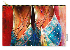 Colorful Footwear Juttis Sales Jaipur Rajasthan India Carry-all Pouch