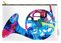 Colorful French Horn 2 - Cool Colors Abstract Art Sharon Cummings Carry-all Pouch by Sharon Cummings