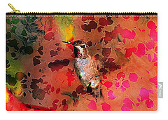Colorful Hummingbird Carry-all Pouch