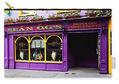 Colorful Irish Pub Carry-all Pouch by Aidan Moran