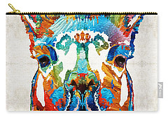 Colorful Llama Art - The Prince - By Sharon Cummings Carry-all Pouch by Sharon Cummings
