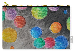 Carry-all Pouch featuring the drawing Colorful Orbs by Thomasina Durkay