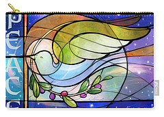Colorful Peace Dove Carry-all Pouch
