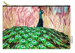 Carry-all Pouch featuring the photograph Colorful Peacock by Matt Harang
