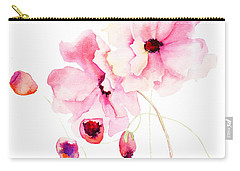 Colorful Pink Flowers Carry-all Pouch