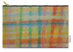 Carry-all Pouch featuring the drawing Colorful Plaid by Thomasina Durkay