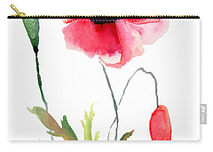 Colorful Poppy Flowers Carry-all Pouch