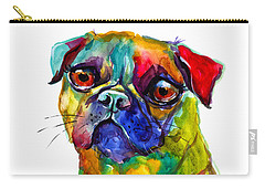 Colorful Pug Dog Painting  Carry-all Pouch
