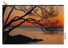 Colorful Quiet Sunrise On Lake Ontario In Toronto Carry-all Pouch by Georgia Mizuleva